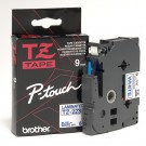"Brother TZE223 P-Touch 3/8"" (9mm) Laminated Tape, Blue on White"