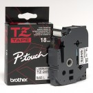 "Brother TZE241 P-Touch 3/4"" (18mm) Black on White Laminated Tape"