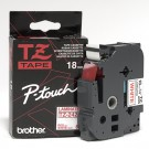 "Brother TZE242 P-Touch 3/4"" (18mm) Laminated Tape, Red on White"
