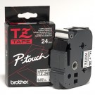 "Brother TZE251 P-Touch 1"" Laminated Tape, Black on White"