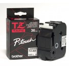 "Brother TZE261 P-Touch 1.5"" Laminated Tape, Black on White"