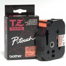 "Brother TZB51 P-Touch 1"" Laminated Tape, Black on Fluorescent Orange"