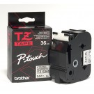 Brother TZS261 P-Touch  36mm Black on White Tape with Strong Adhesive