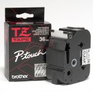 "Brother TZE161 P-Touch 1.5"" (26mm)  Laminated Tape, Black on Clear"