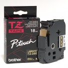 "Brother TZE344 P-Touch 3/4"" Laminated Tape, Gold on Black (18mm)"