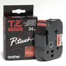 "Brother TZE451 P-Touch 1"" Laminated Tape, Black on Red"