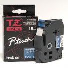"Brother TZE545 P-Touch 3/4"" Laminated Tape - White on Blue"