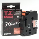 "Brother TZEB41 P-Touch 3/4"" Black on Fluorescent Orange Laminated Tape"